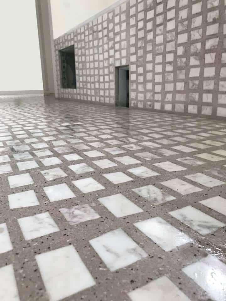 Terrazzo Scarpa - Mineral art concept