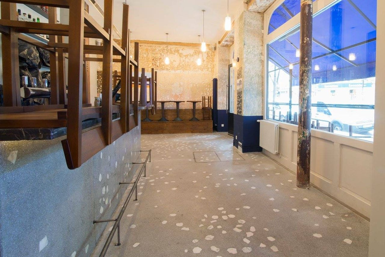 Sol Terrazzo Coulé Prix terrazzo mineral art concept - société artisanale parisienne